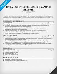 data entry supervisor resume resumecompanioncom supervisor resume sample