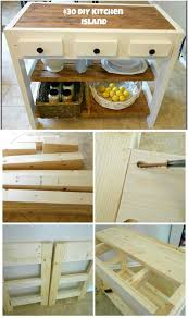 homemade wood furniture. DIY Wooden Kitchen Island On Homemade Wood Furniture Crafts