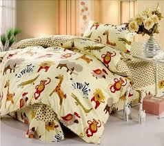 safari animals kids bedding twin duvet cover set for boys girls cute yellow wild jungle