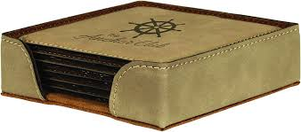 categories personalized beverage coasters personalized leather engraving