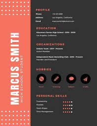 Cool Resume Templates For Mac Inspiration Customize 48 Infographic Resume Templates Online Canva