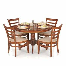 royaloak dining table set with 4 chairs solid wood natural