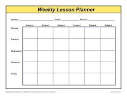 Weekly Detailed Multi Class Lesson Plan Template