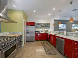 Red Kitchen Pendant Lights White Kitchen With Red Countertops Cliff Kitchen