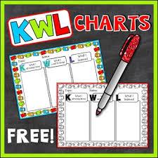 Kwl Chart Custom Freebie KWL Charts Student Teacher Versions Blacklines Included