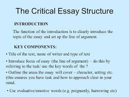 notes on poem and critical essay advice ppt the critical essay structure