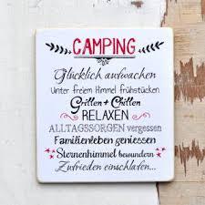 Camping Schild Für Waschechte Camper