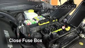 blown fuse check 2006 2010 jeep commander 2008 jeep commander 6 replace cover secure the cover and test component
