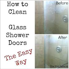 how to clean hard water stains from shower doors how to remove hard water stains from