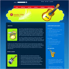 Music Club Template Free Website Templates In Css Html Js