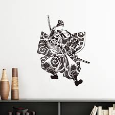 traditional japanese samurai art wallpaper. Delighful Japanese Japan Traditional Culture Samurai Sword Fan Line Drawing Japanese Style  Wall Sticker Art Decals Mural Wallpaper With I