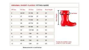 Hunter Shoe Size Chart Exact Ladies Boot Size Chart 2019
