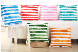 colorful striped throw pillow 18 inch velvet sofa cushions for beige couch