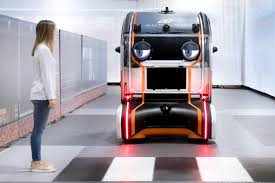 jaguar land rover s prototype driverless car makes eye contact with pedestrians
