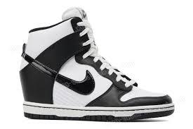 nike dunk sky hi leather wedge white black at unbeatable 01