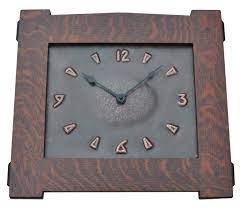 hand hammered copper clocks