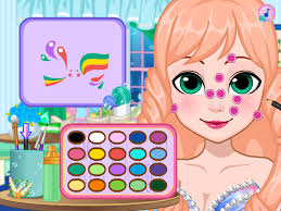 barbie mermaid game face painting barbie doll beauty games free kids games screenshot 5