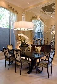 mirrored walls elegant dining room