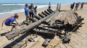 Suspected Centuries Old Shipwreck Washes Ashore In Ponte