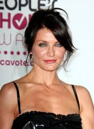 makeup suits while dark chocolate locks make her blue eyes pop almost ebony hair doesn t quite suit