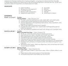 Resume For Cashier Job | Ophion.co