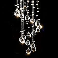 new chrome crystal led ceiling lights fitting pendant lamp chandeliers 5336hc uk