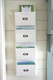 wood wall file organizer furniture white color hanging wall file or mail organizer with 4 pockets
