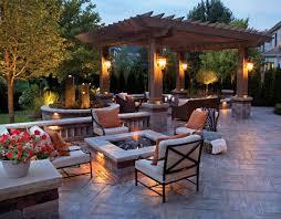 concrete patio with square fire pit. Firepit Concrete Patio With Square Fire Pit