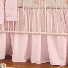 solid pink crib skirt gathered
