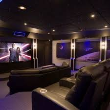 theater room lighting. Inspiration For A Contemporary Enclosed Purple Floor Home Theater Remodel  In DC Metro Room Lighting