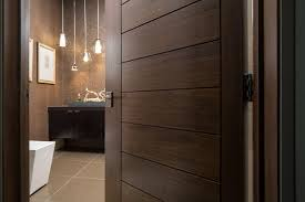 Las Vegas Modern Home - Interior Solid Wood Walnut Door modern-bathroom