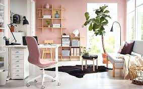 ikea small office ideas. Office Ideas For Home A Pink And White With Sit Stand  Desk . Ikea Small