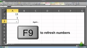 How To Create A Mini Lucky Draw In Microsoft Excel Youtube