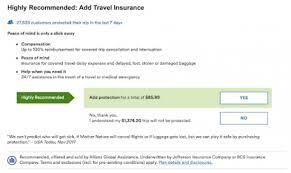 airline travel insurance vs