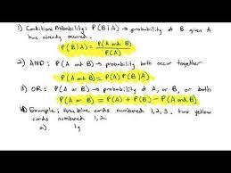 2 1 Probability Formulas