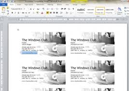 business cards with word how to design business cards using microsoft word