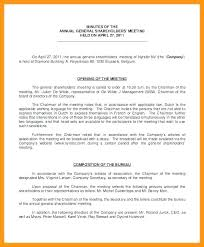 Annual Shareholder Meeting Corporate Minutes Template