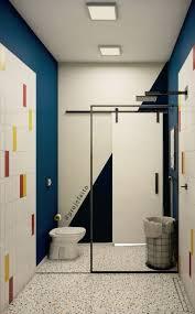 Procurando por porcelanato esmaltado granilite palha 60x60cm caixa 1,46m² bold cinza portobello? Banheiro Com Granilite Banheiro Colorido Projeto De Apartamento Banheiro