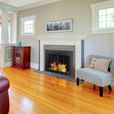 pictures of fireplace glass doors