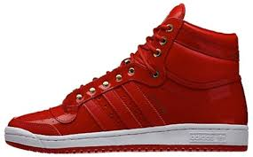 adidas top ten hi red patent leather available now only 90
