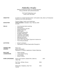 Dental Resume Template Example For Free Dental Assistant Resume