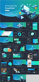 Infographic For Powerpoint Best Blue Infographic Data Powerpoint Template