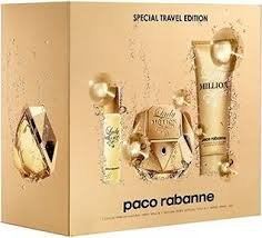 parfum vrouwen paco rabanne lady million 80ml eau de 10ml 100ml bodylotion giftset 3349668535101
