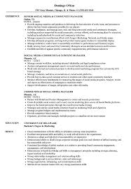 Community Association Manager Resume Sample Outreach Relations