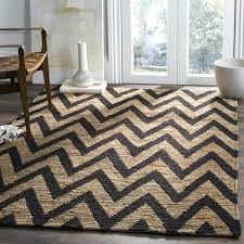 hand knotted organic black natural wool jute rug pottery barn chevron reviews