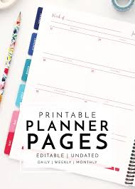 Daily Planner Printables New To The Organization Toolbox Printable Planner Pages
