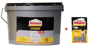 Купить <b>Клей Момент Столяр Супер</b> ПВА D3 2 кг + подарок с ...