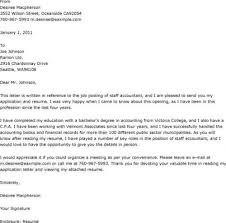 Staff Accountant Cover Letter Examples Staff Accountant Cover Letter