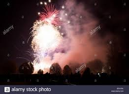 fireworks in winchester uk stock image