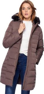 taupe faux fur coat follow maine new england follow debenhams